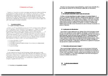L'industrie en France : internationlisation de l'industrie, rôle des acteurs industriels, etc.