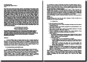 Montaigne, Essais, Livre I, Chapitre 31 : Des Cannibales : commentaire
