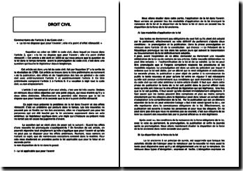 L'article 2 du Code civil