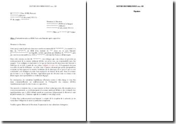 Lettre de relance de demande de remboursement suite au débit d'une carte bancaire après opposition