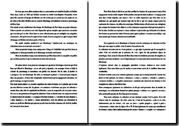 Molière, Dom Juan, Acte I scène 2 : commentaire composé