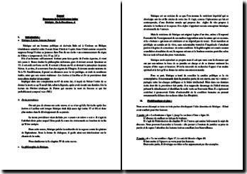 Sénèque, De Providencia, 4 : commentaire