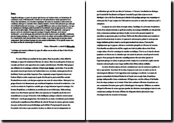 Alain, Philosophie, Humanités : explication de texte