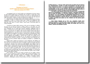 Pascal, Pensées, Liasses II à VIII : l'Homme