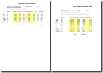 Tableau de calcul de réduction Fillon 2010 selon le SMIC
