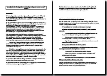 La clarification des rôles du Président de la République et du Premier ministre sous la Ve République