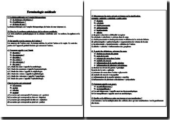 Questionnaire de terminologie médicale
