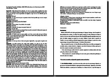 Molière, Dom Juan, Acte III scène 1 : La dispute de Sganarelle : commentaire composé