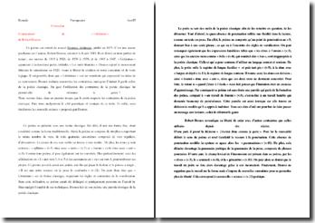 Robert Desnos, Destinée arbitraire, Littérature : commentaire composé