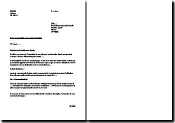 Lettre de demande de non-paiement de la redevance audiovisuelle