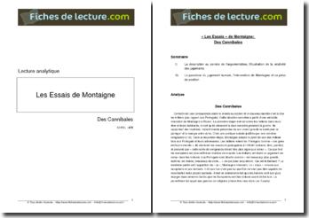 Michel de Montaigne, Essais, Des Cannibales