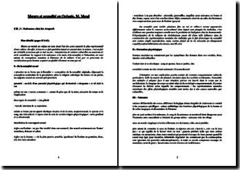 M. Mead, Moeurs et sexualité en Océanie : résumé des chapitres 15, 11, 4 et 3