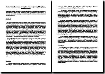Maurice Merleau-Ponty, Le primat de la perception et ses conséquences philosophiques, Le rapport à autrui