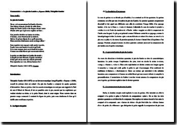 Théophile Gautier, España,Le pin des Landes : commentaire composé