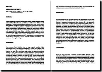 Charles Baudelaire, Curiosités Esthétiques, Extrait : analyse