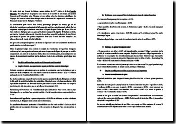Honoré de Balzac, Le Père Goriot : Discours de la duchesse de Langeais à Madame de Beauséant : commentaire