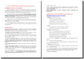 Conseils pour l'oral du Bac de Français