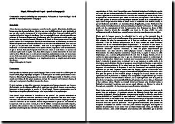 Hegel, Philosophie de l'esprit : pensée et langage (2)