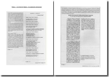 Les droits des enfants, les maisons de redressement : étude de textes