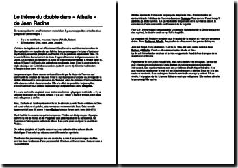 Le thème du double dans Athalie de Jean Racine