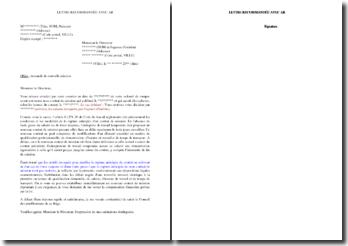 Lettre de demande de nouvelle mission en cas de rupture anticipée abusive d'un contrat de mission (intérim)