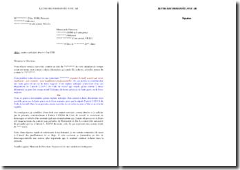 Lettre de demande de versement de dommages-intérêts en cas de rupture anticipée abusive d'un contrat à durée déterminée