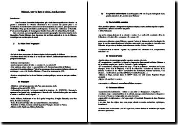 Jean Lacouture, Malraux, Une vie dans le siècle, Dernier chapitre : commentaire