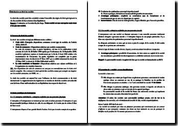 Droit des sociétés : sources, statut juridique de l'entreprise, etc.