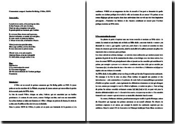 Joachim Du Bellay, L'Olive, XXVI : commentaire composé