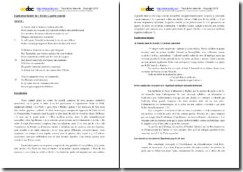 Apollinaire, Alcools, Le Brasier, Partie centrale : explication linéaire