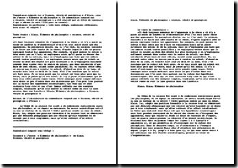Alain, Eléments de philosophie, Science, vérité et perception