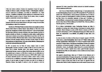 N. Wachtel, La vision des vaincus : entre innovation et débat historiographique