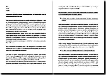 Commentaire de l'arrêt de la Cour européenne des droit de l'homme, 8 Juin 1976 : affaire Engel et autres contre Pays-Bas