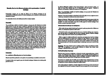 Hamelin, Essai sur les éléments principaux de la représentation : l'activité technique