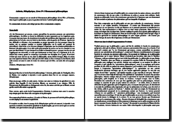 Aristote, Métaphysique, Livre IV : l'étonnement philosophique