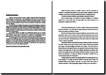 Freud, Introduction à la psychanalyse : la démystification de l'homme : explication de texte