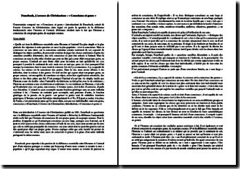 Ludwig Feuerbach, L'essence du Christianisme : Conscience et genre