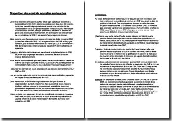 La fin du Contrat Nouvelles Embauches (CNE)