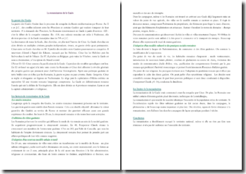 La romanisation de la Gaule (CRPE)