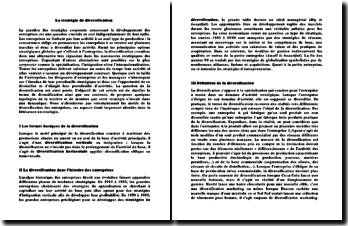 La stratégie de diversification : définition, typologies, etc.