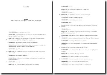 Molière, Dom Juan, Acte II scène 4 : commentaire