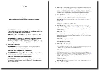 Molière, Dom Juan, Acte III Scène 1 : analyse