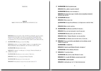 Molière, Dom Juan, Acte IV Scène 3 : commentaire
