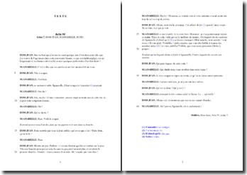 Molière, Dom Juan , Acte IV scènes 7 et 8 : commentaire