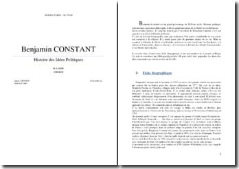 Benjamin Constant : vie et oeuvre