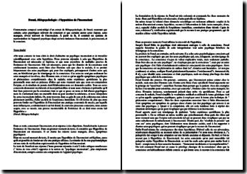 Sigmund Freud, Métapsychologie : l'hypothèse de l'inconscient