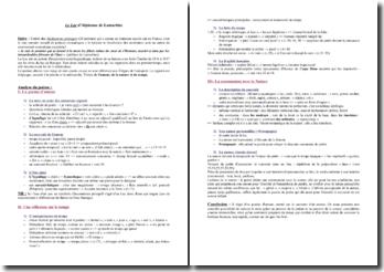 Alphonse de Lamartine, Le Lac : commentaire composé