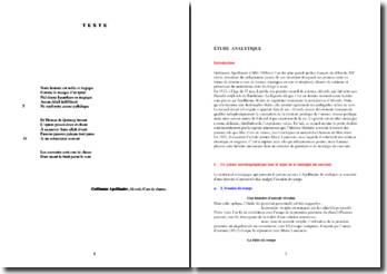 Guillaume Apollinaire, Alcools, Cors de chasse : commentaire
