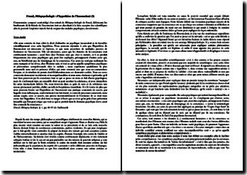 Sigmund Freud, Métapsychologie : l'hypothèse de l'inconscient (2)