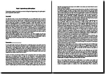 Hegel, Apprentissage philosophique, Extrait